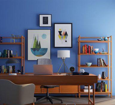 modern home office interior design singapore